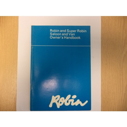 RELIANT ROBIN 1 SALOON AND VAN OWNERS HANDBOOK 22695