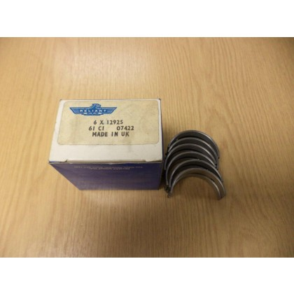 6 x Reliant Robin 750CC ENGINE Main bearings standard  12925 bond bug 750cc robin mk1